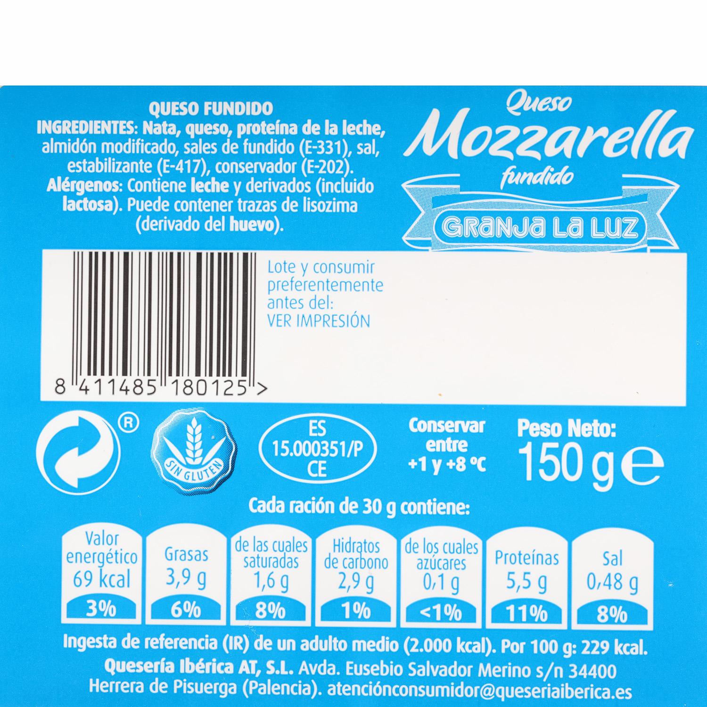 Taco de queso Mozzarella fundido - 3