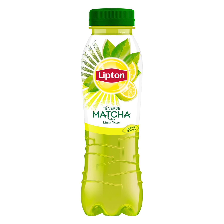 Refresco de té verde matcha Lipton sabor lima yuzu botella 33 cl.