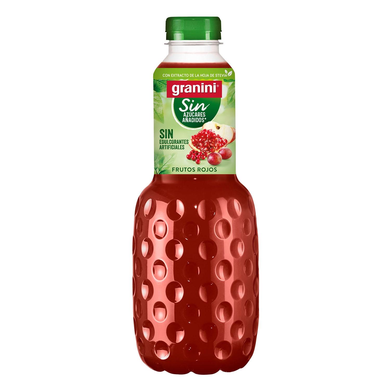Zumo de frutos rojos light sin azúcar con stevia botella 1 l.