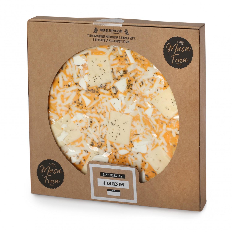 Pizza masa fina cuatro quesos Agrucarnes 495 g.