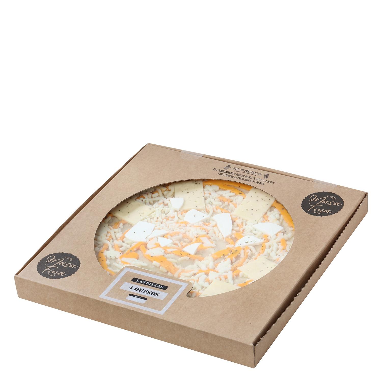 Pizza masa fina cuatro quesos Agrucarnes 495 g. - 2