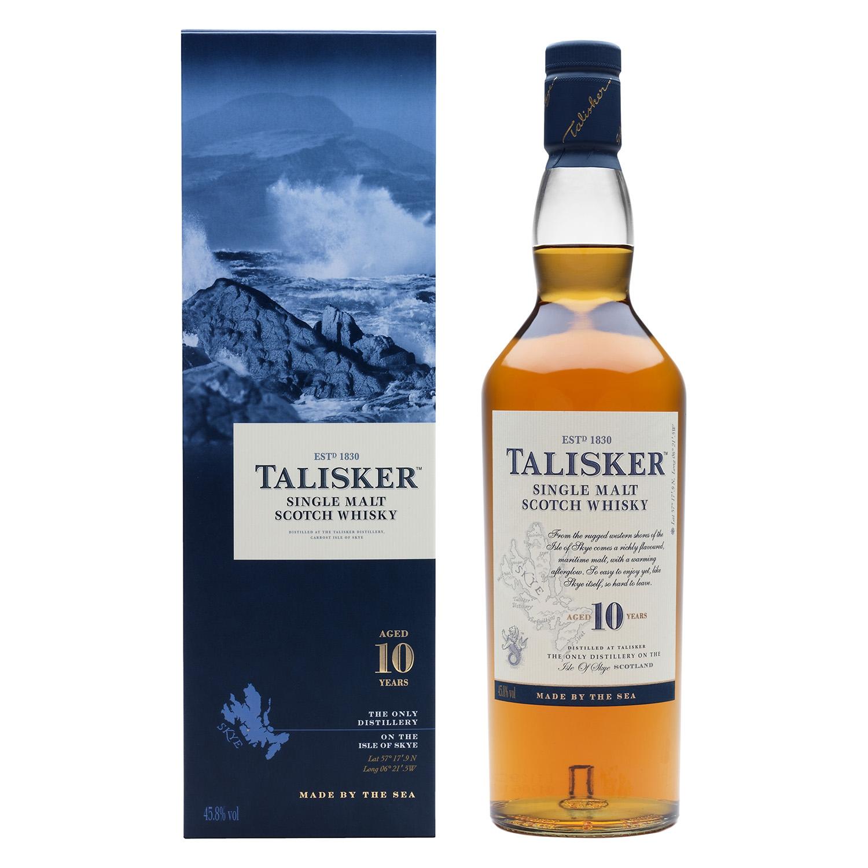 Whisky Talisker escocés 10 años 70 cl.