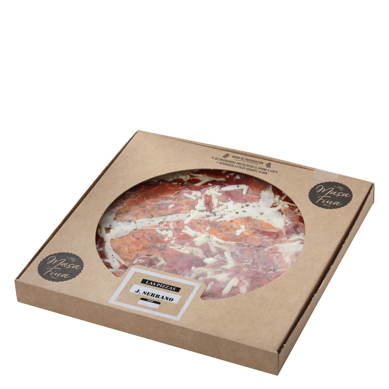 Pizza masa fina jamón serrano Agrucarnes 495 g. - 2