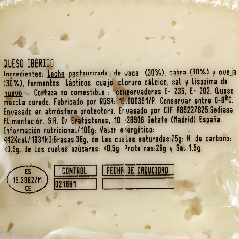 Queso ibérico castellano Carrefour Calidad y Origen cuña 1/8 150 g aprox - 2