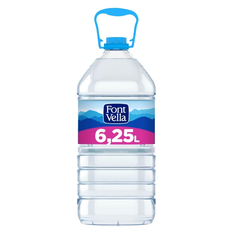 Agua mineral Font Vella natural 6,25 l.