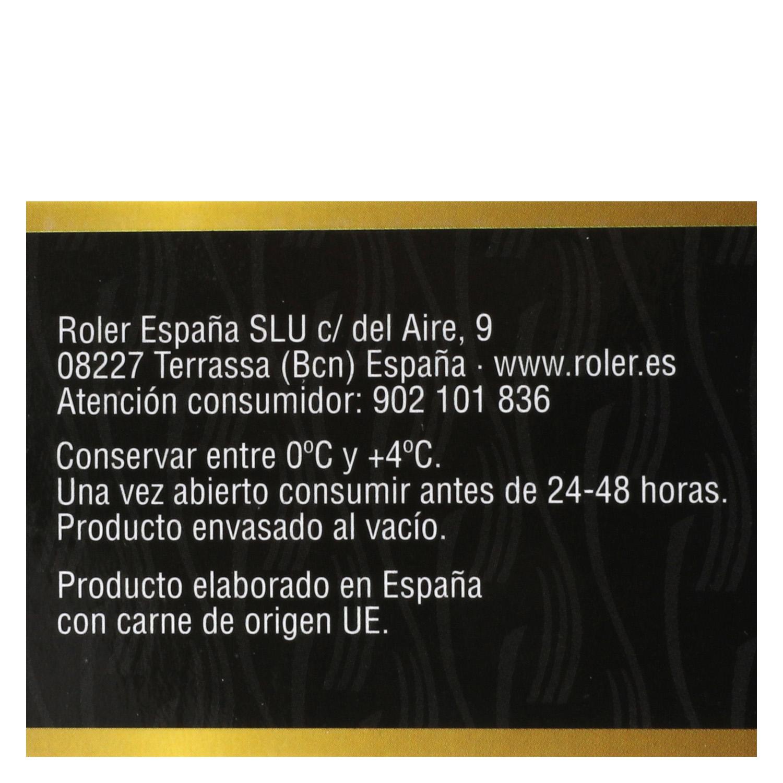 Hamburguesa Americana de Vacuno XXL Sin Aditivos Roler (2x200g) 400 g - 4