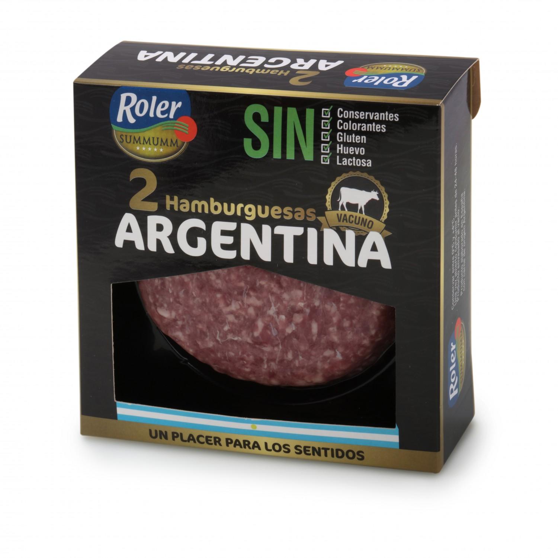 Hamburguesa Argentina de Vacuno Sin Aditivos Roler (2x150g) 300 g