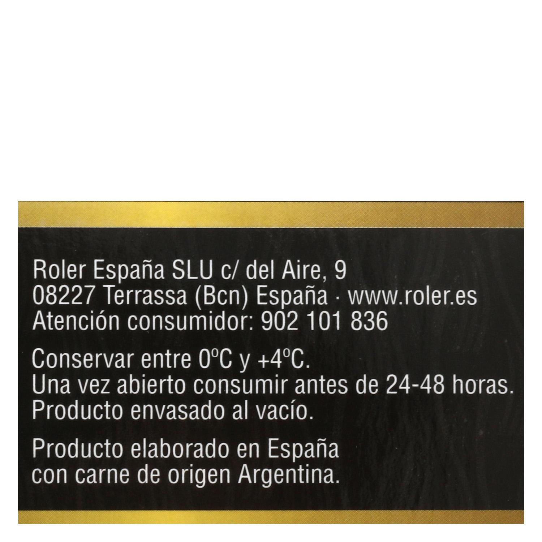 Hamburguesa Argentina de Vacuno Sin Aditivos Roler (2x150g) 300 g - 4