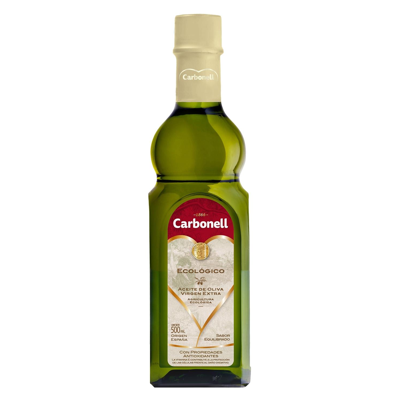 Aceite de oliva virgen extra ecológico Carbonell 500 ml.
