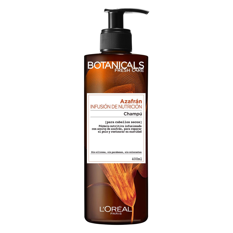 Champú Azafrán Infusión de Nutrición para cabellos secos L'Oréal-Botanicals 400 ml.