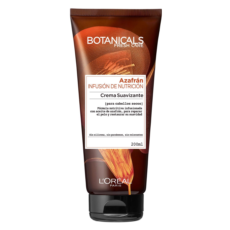 Crema suavizante Azafrán Infusión de Nutrición para cabellos secos L'Oréal-Botanicals 200 ml.
