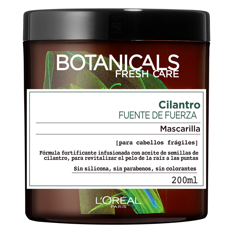 Máscarilla cilantro fuente de fuerza para cabellos frágiles L'Oréal Botanicals 200 ml.