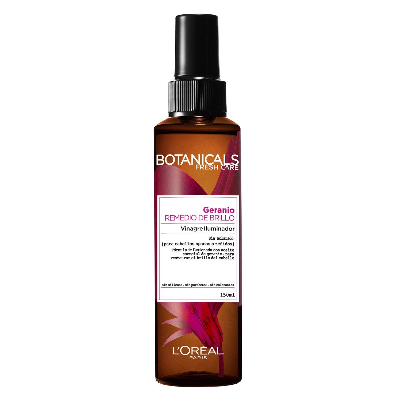 Vinagre iluminador geranio para cabellos teñidos L'Oréal Botanicals 150 ml.