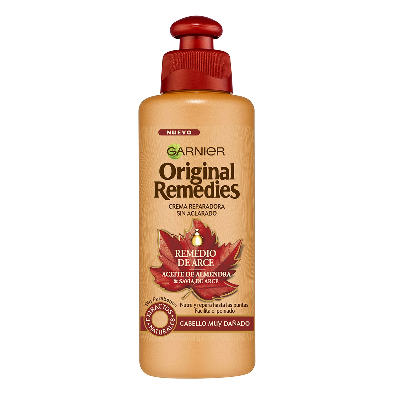 Aceite en crema sin aclarado remedio de savia de arce Original Remedies 200 ml.
