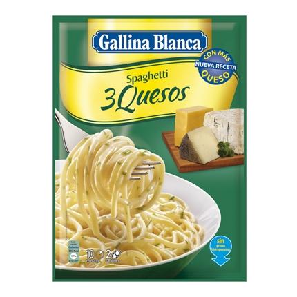 Spaghetti a los 3 quesos