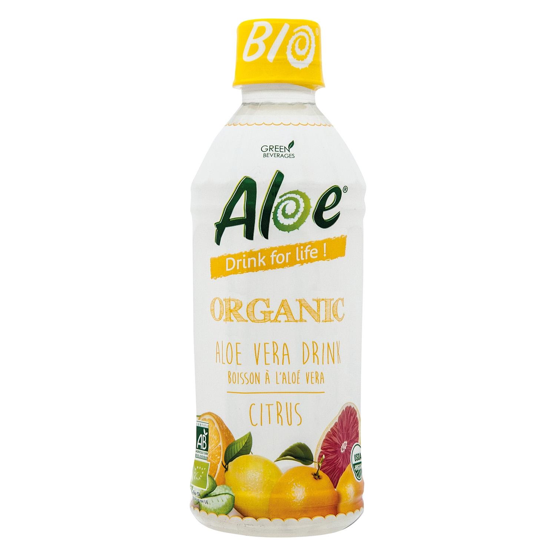 Bebida de aloe vera ecológico Aloe Cítrico botella 35 cl.