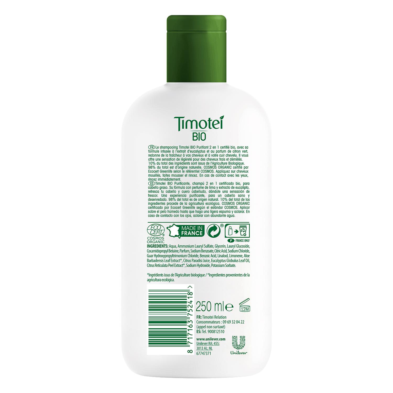 Champú purificante 2 en 1 ecológico Timotei -