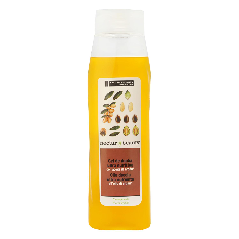 Crema de ducha ultranutritiva con extracto de aceite de argán Les Cosmétiques Néctar of Beauty 750 ml.