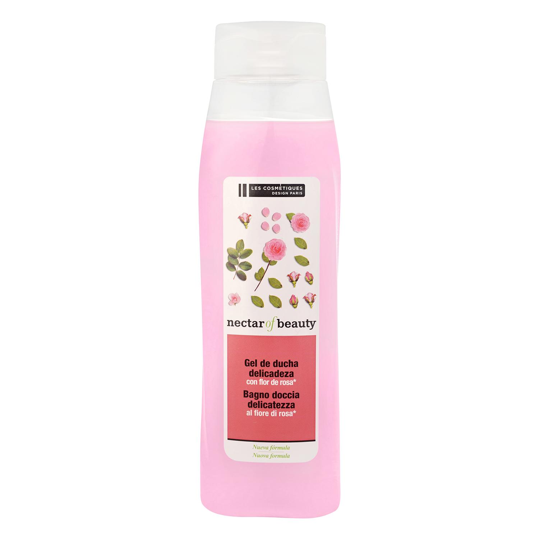 Crema de ducha delicadeza con flor de rosa