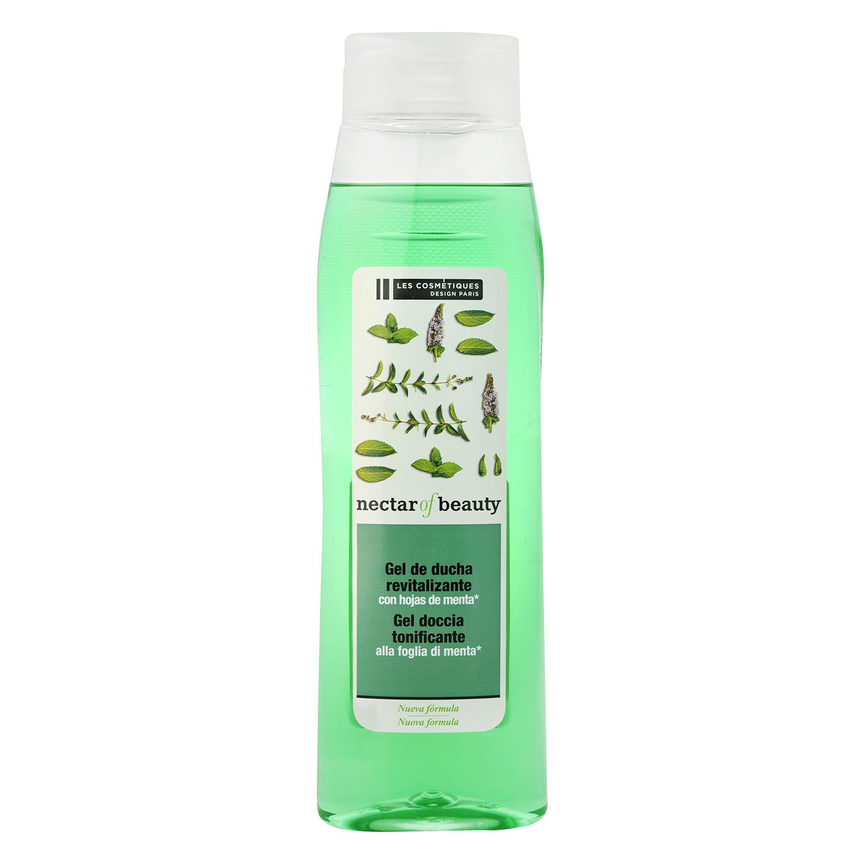 Gel de ducha revitalizante con hojas de menta