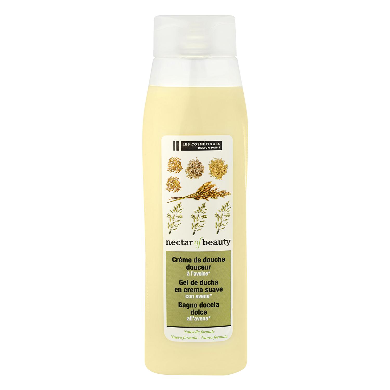 Crema de ducha suave con leche de avena Les Cosmétiques Néctar of Beauty 750 ml.