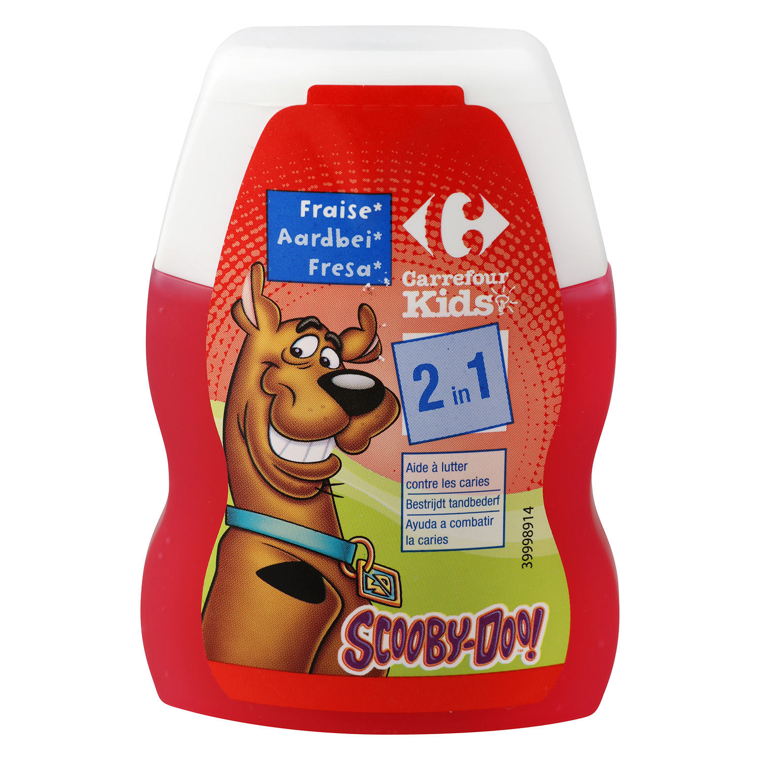 Dentífrico 2 en 1 de fresa Carrefour Kids 75 ml.