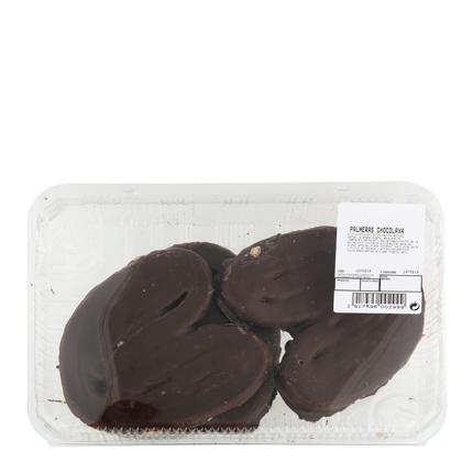 Palmeras de hojaldre de chocolate Carrefour 4 ud -
