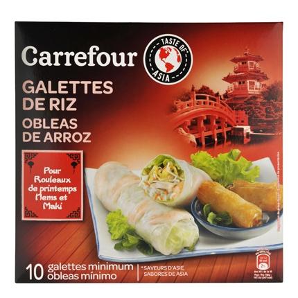 Obleas de arroz para rollitos Carrefour Rollitos de Cordero a baja Temperatura