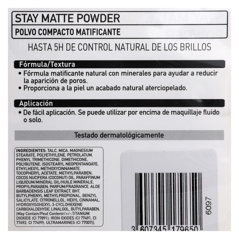 Polvos Stay Matte nº 006 -