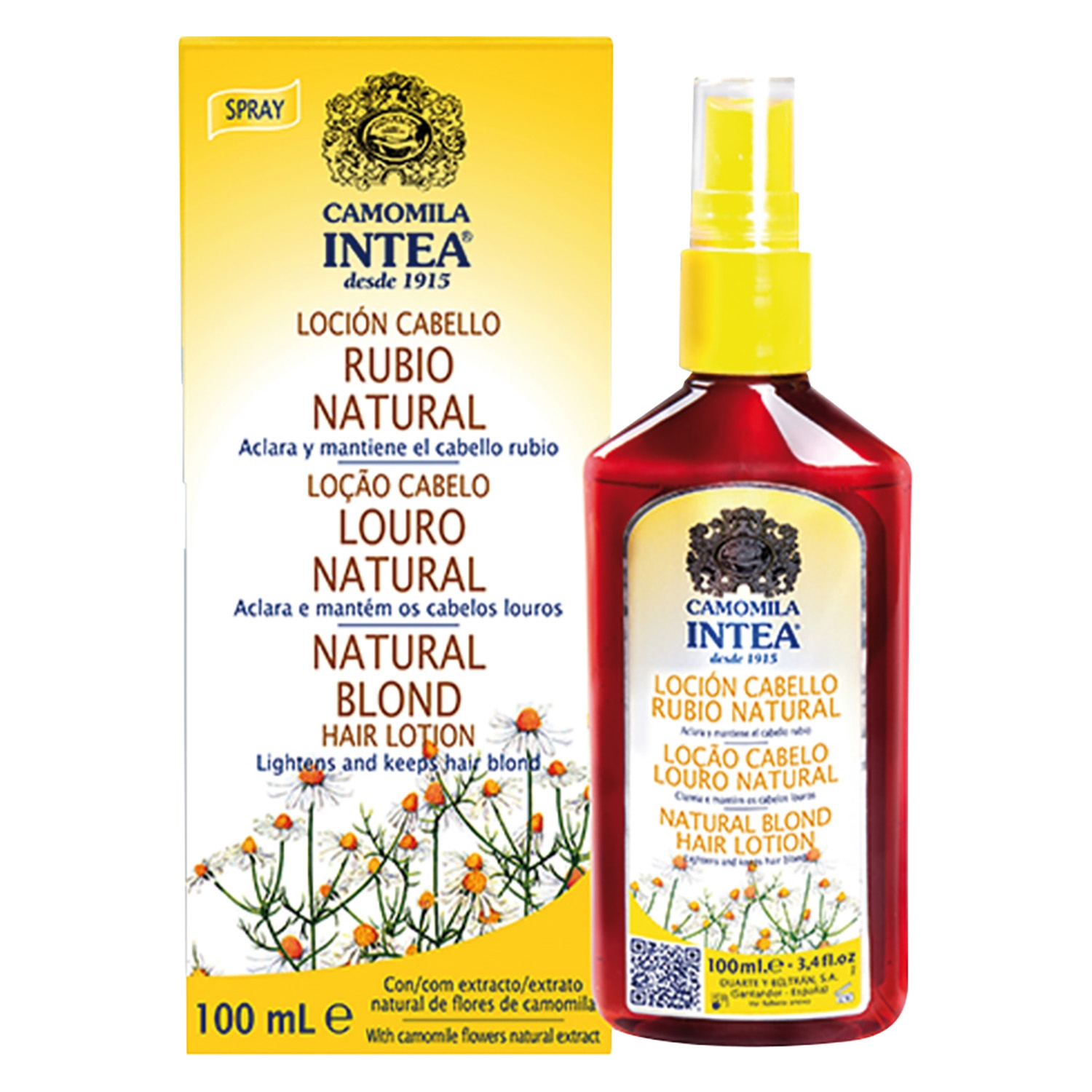 Loción camomila rubio natural Intea 100 ml.
