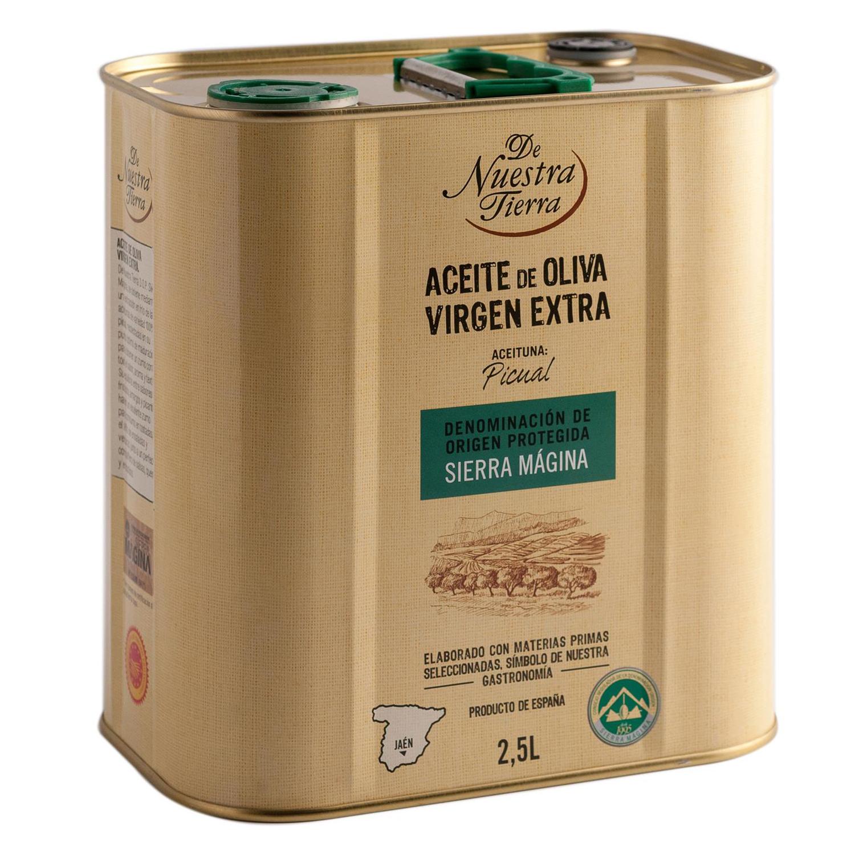 Aceite de oliva virgen extra De Nuestra Tierra D.O Sierra Mágina lata 2,5 l.