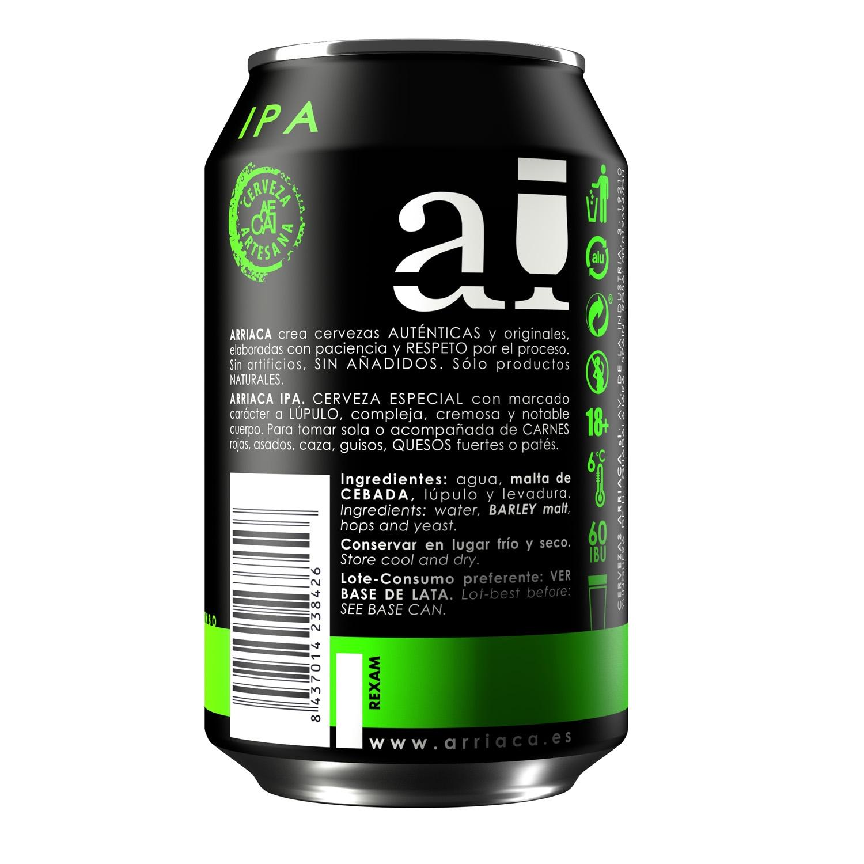 Cerveza artesana Arriaca IPA lata 33 cl. -