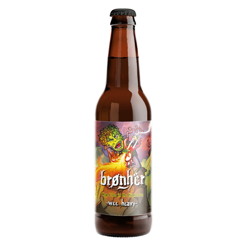 Cerveza artesana Brønhër Hop Clan in the Highmalts Wee Heavy botella 33 cl.