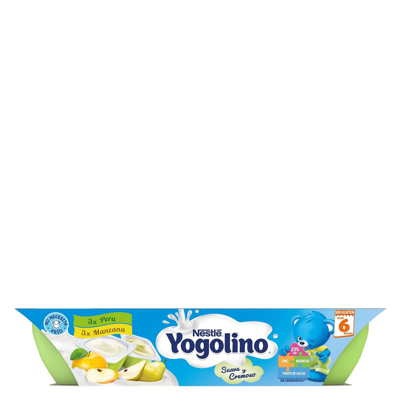 Postre de manzana y pera Nestlé Iogolino pack de 6 unidades de 60 g. - 4