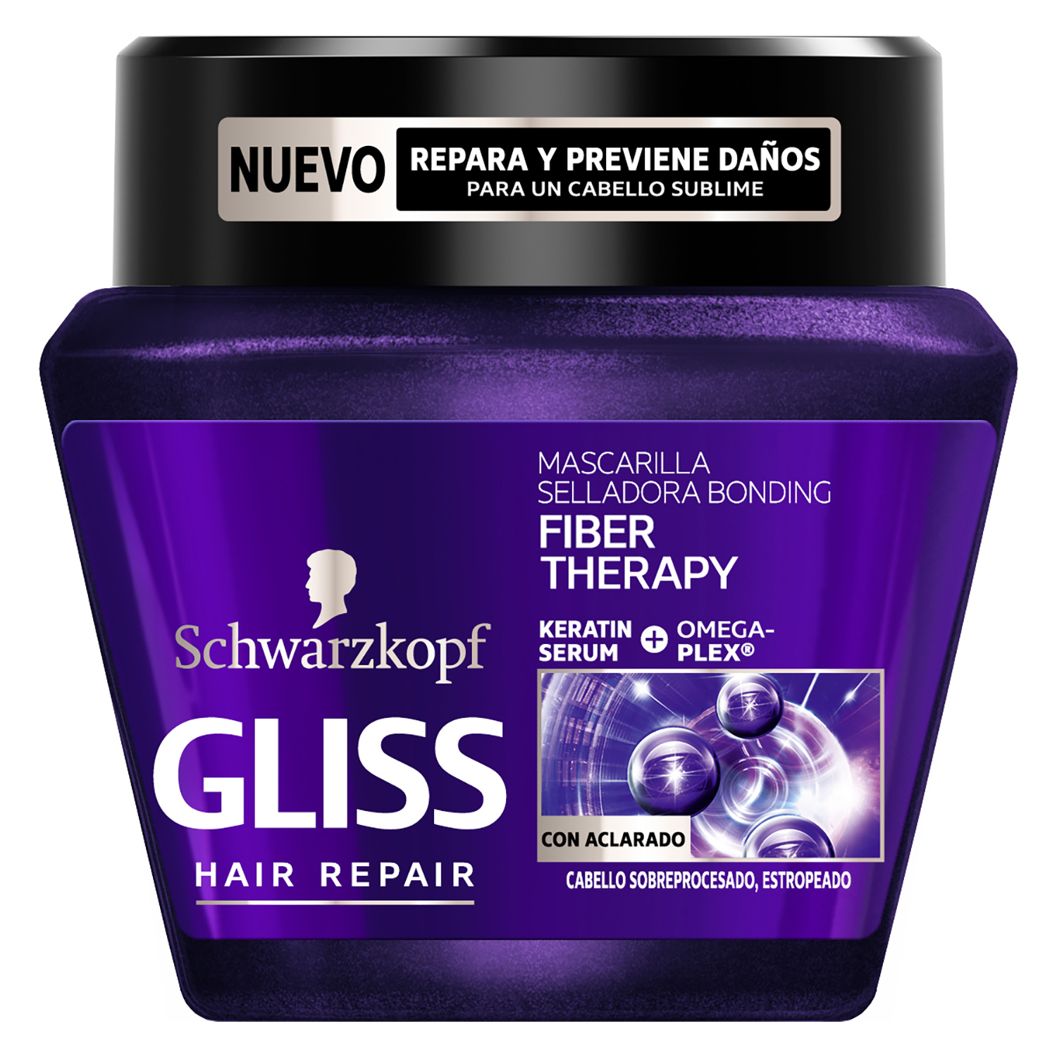 Mascarilla Fiber Therapy Bonding para cabello estropeado Gliss 300 ml.