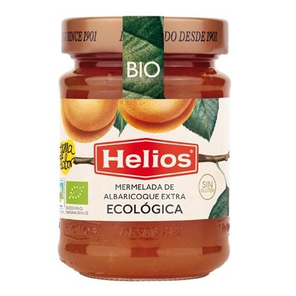 Mermelada de albaricoque categoría extra Helios sin gluten 350 g.