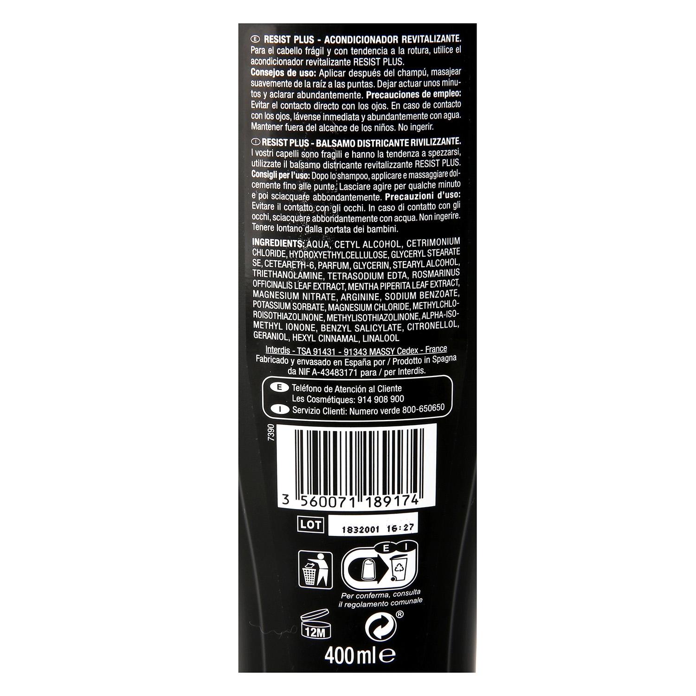 Acondicionador revitalizante cabello fragil Resist Plus -