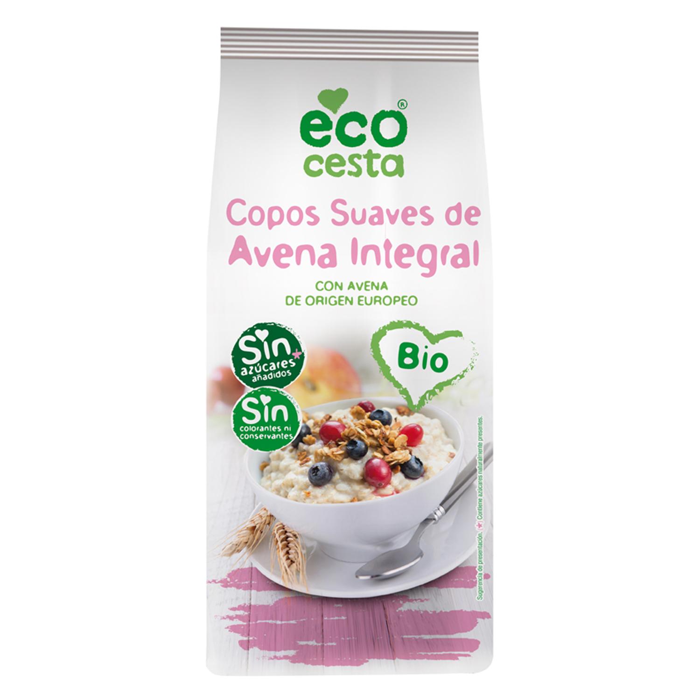 Copos suaves de avena integral sin azúcares añadidos ecológicos Ecocesta 500 g.