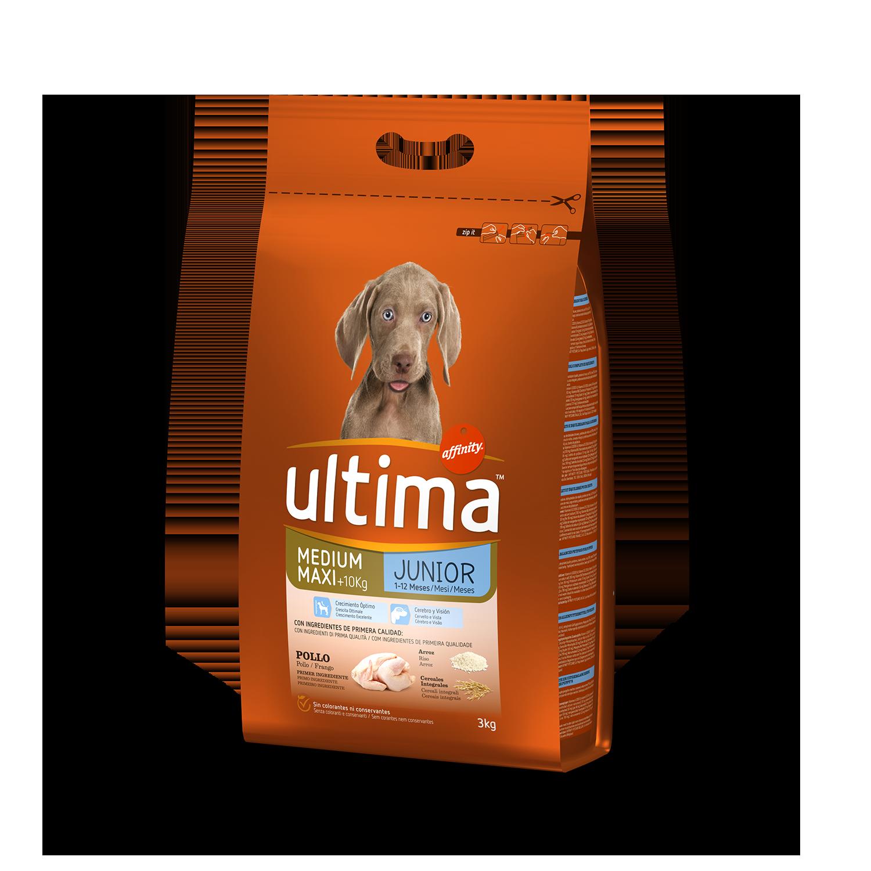 Ultima Pienso  para Perro Cachorros Medium - Maxi Sabor Pollo y Arroz 3kg.