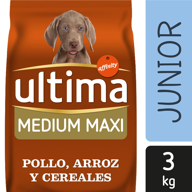 Ultima Pienso  para Perro Cachorros Medium - Maxi Sabor Pollo y Arroz 3kg. -