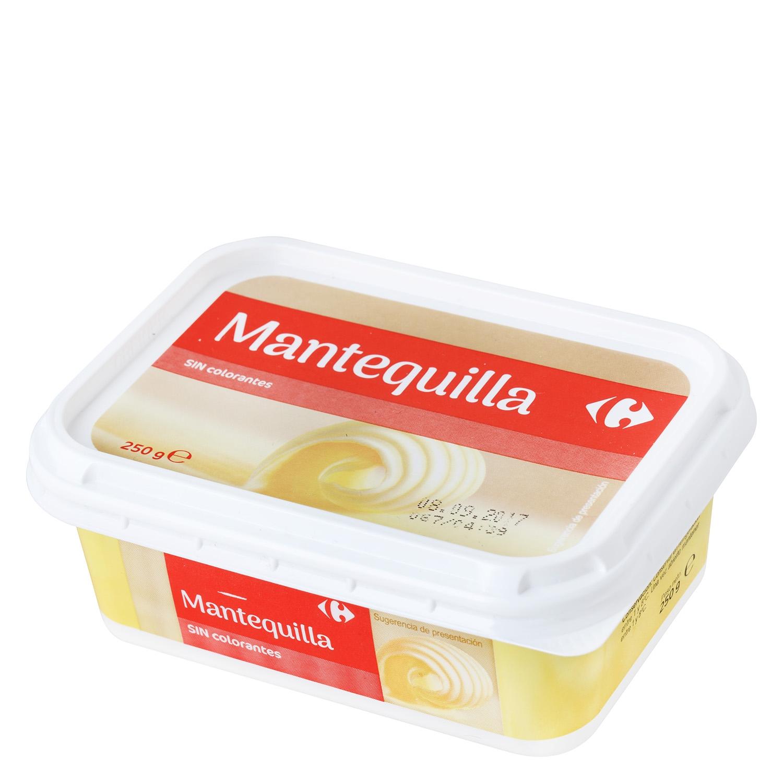 Mantequilla sin colorantes Carrefour 250 g.