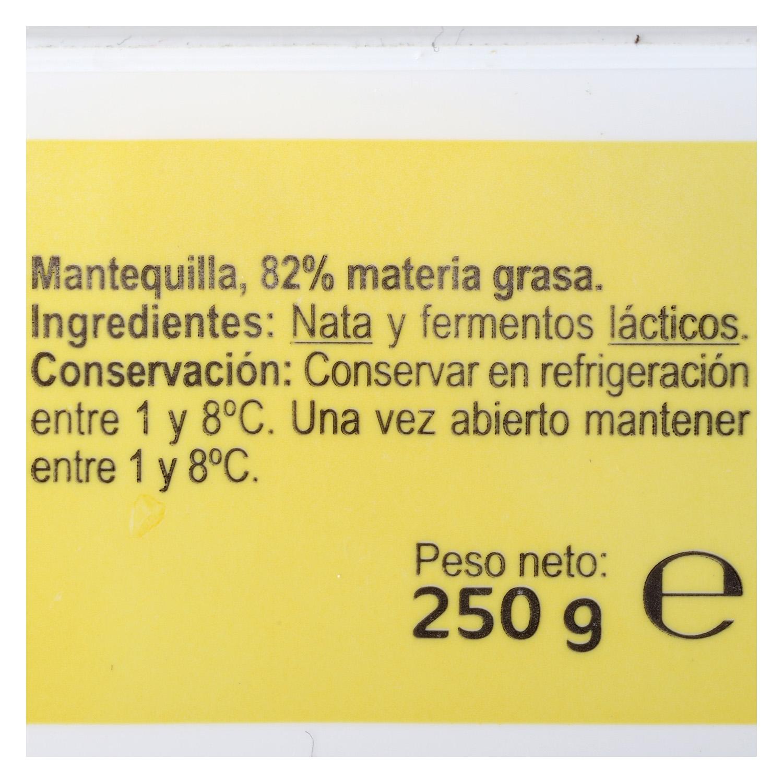 Mantequilla sin colorantes Carrefour 250 g. - 4