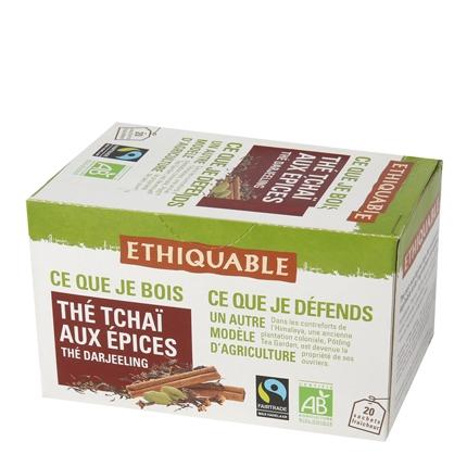 Té Tchai con especias en bolsitas Ethiquable 20 ud.