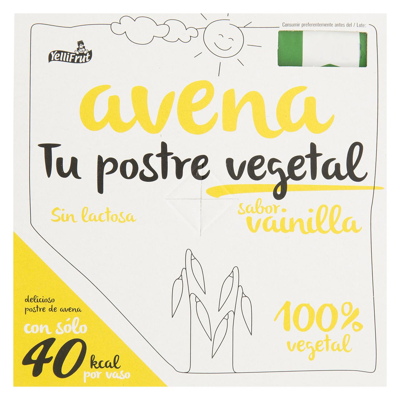 Postre vegetal avena sabor vainilla
