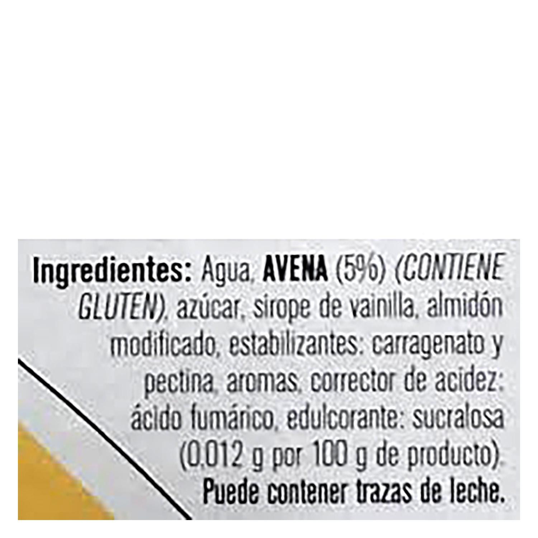 Postre vegetal avena sabor vainilla - 2