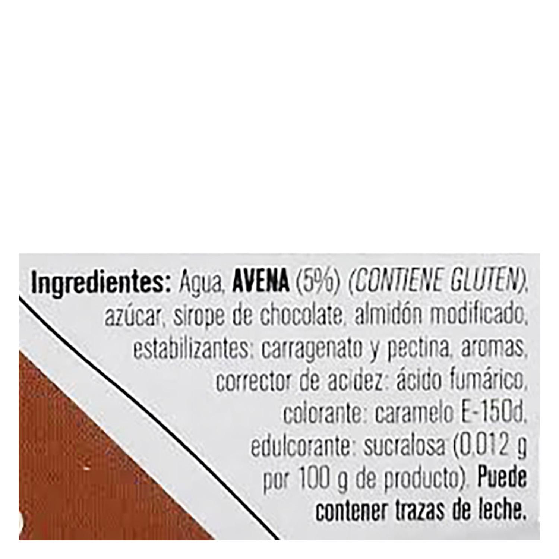 Postre vegetal de avena sabor chocolate YelliFrut sin lactosa pack de 4 unidades de 100 g. - 2