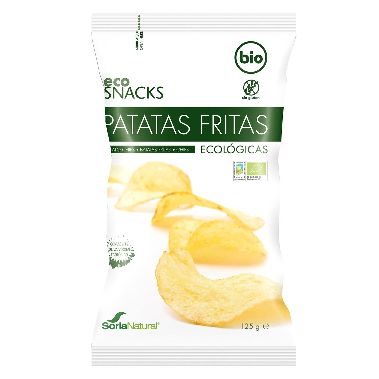 Patatas fritas ecológicas Soria Natural en aceite de oliva sin gluten 125 g.
