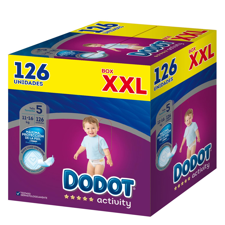 Pañales T5 (11-16 kg.) XXL Dodot Activity 126 ud.