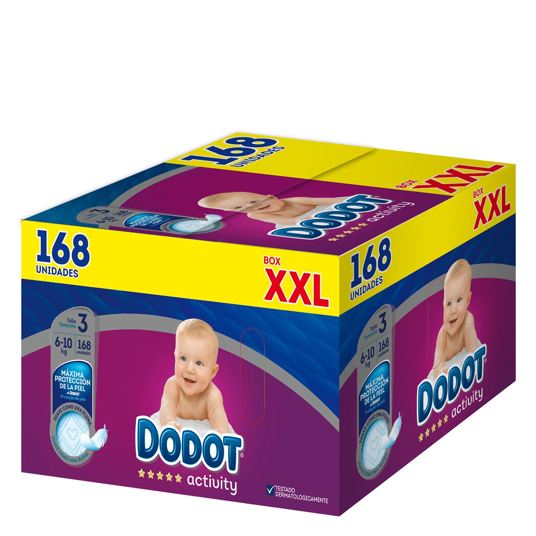 Pañales Dodot Activity box XXL T3 (6kg-10kg.) 168 ud.