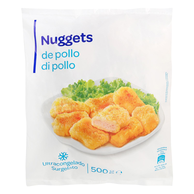 Nuggets de pollo congelados Producto blanco 500 g.